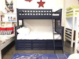 blue kids furniture. Campground Twin Over Full Bunk Bed With Captain Drawers In Navy Blue Kids Furniture
