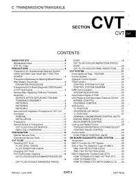 2007 nissan versa transmission transaxle cvt pdf manual 212 2007 nissan versa transmission transaxle cvt 212 pages