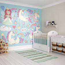 Romantic girl's nursery with floral accent wall 9 photos. Girl Nursery Ideas The Home Depot
