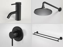 Black Taps Bathroom Black Tapware Shower Heads Towel Rail Tapware Pinterest