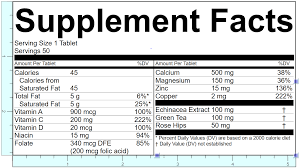 Ingredients Label Template Genesis R D Supplements Software Version 1 3 Release