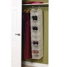10 shelf canvas closet organizer with plastic shelves