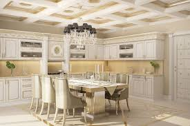 Patterned Blinds For Kitchen Classic French Kitchen Design Dark Wood Kitchen Cabinet And Island