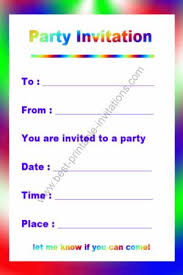 Print Birthday Invitation Free Printable Birthday Invitation