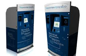 """Recycle Vending Machine Unique Pepsi's """"Dream Machine"""" Gives Rewards For Recycling Giant Check"""