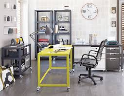 stylish home office computer room. 18 Splendid Home Office Designs With Yellow Flair | Computer Desk, Desks And Metal Stylish Room