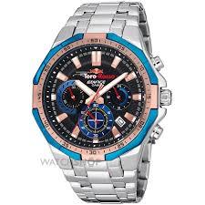 "waterproof watches watch shop comâ""¢ mens casio edifice toro rosso special edition chronograph watch efr 554tr 2aer"