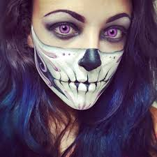 purple skull y skeleton makeup ideas you should wear this