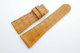 28mm 22mm honey brown genuine crocodile skin watch strap band wt331