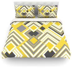 jacqueline milton luca gold cotton duvet cover yellow gray twin
