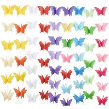 <b>18Pcs 3D</b> Butterfly Strings Cotton Rope Garland <b>Christmas</b> Chain ...