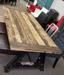 industrial reclaimed furniture. Industrial Vintage Furniture :: R-999 Reclaimed Low Height Dining Table - ARTeFAC USA R