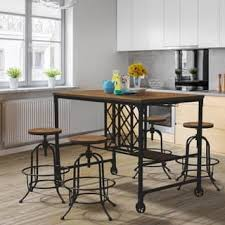 industrial kitchen table furniture. Furniture Of America Daimon Industrial Wine Rack Counter Height Dining Table Kitchen R