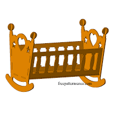 view larger image wooden doll cradle laser cut toy