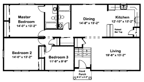 a typical raised ranch floor plan with a split level entry at the front door