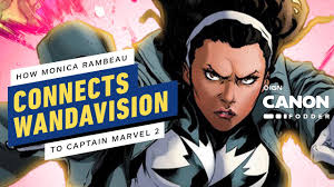 Wandavision stars elizabeth olsen and paul bettany interview each other about vision's return to the marvel cinematic universe, the new disney+ show's best wigs, and early memories of batman. Wandavision How Monica Rambeau Connects To Mcu Phase 4 Mcu Canon Fodder Youtube
