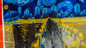 mar 6 2016 painting with a twist a van gogh style painting in window st petersburg fl photonews247 com