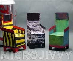 Paper Dollhouse Furniture Template Chair 1