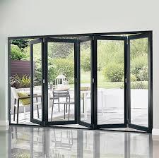 bifold patio doors. Five Door Grey Timber Kitchen Sliding Bifold Patio Doors I
