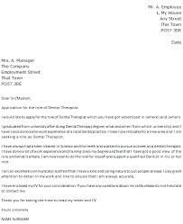 Letter Of Recommendation For A Dentist Dental Therapist Cover Letter Example Icover Org Uk