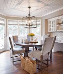 Standard Height Of Dining Room Table Casual Wingback Dining Dining Room Contemporary With Farmhouse
