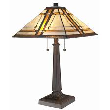 Table lamps lighting Led Tiffany Style Mission Table Lamp The Home Depot Amora Lighting 225 In Tiffany Style Mission Table Lampam1053tl14