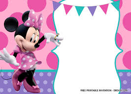 Free Minnie Mouse Birthday Invitations Free Minnie Mouse Birthday Invitation Templates Editable
