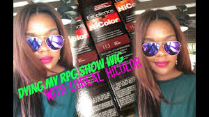 L Oreal Excellence Hicolor Cool Light Brown 226 Dying My Rpg Show Wig With Loreal Hi Color Soft Brown Deep Auburn