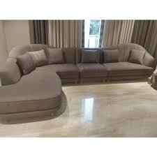 brown modern design long sofa living