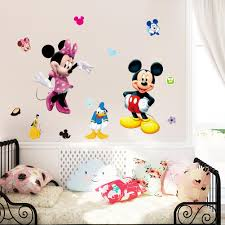 sy new baby room cartoon wall sticker childrens living room mickey mousewall poster kids room don