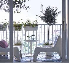 balcony furniture ideas. Use Mono-color Scheme For The Balcony. Every Piece Of Furniture Should Be Cool Colors (especially White) Including Planter. Balcony Ideas
