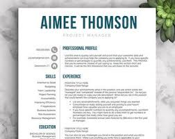 Pretty Resume Template 2 Best Creative Resume Template Resume For Word And Pages 48 48 Etsy