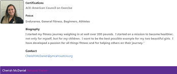 Personal Trainer Biography Example Personal Training At Conroe Family Ymca Ymca Of Greater