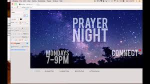create church flyer prayer night tutorial