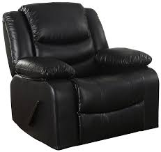elegant leather recliner chairs 9 3 serene moss black faux chair