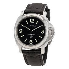 panerai luminor base logo acciaio black dial men s watch pam01000