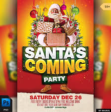 Part Flyer Best Free Christmas And New Year Psd Flyers To Promote Your Event