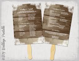 Fan Wedding Program Template Wedding Ideas Uxjj Me