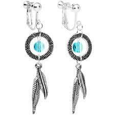 Dream Catcher Earings New Amazon Handcrafted Dreamcatcher Dangle Clip On Earrings Created