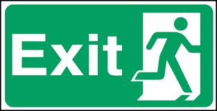 Fire Exit Escape Route Sign