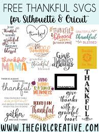 These free svg cutting files are compatible with cricut, cameo silhouette and other major cut machines. Free Thankful Svg Cut Files The Girl Creative