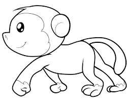 Small Picture Printable Coloring Pages Monkey Coloring Pages