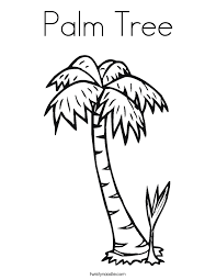Small Picture Palm Tree Coloring Page Twisty Noodle
