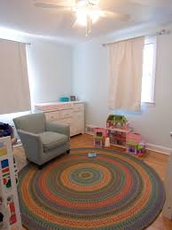 garnet hill fair isle round rug in child s room