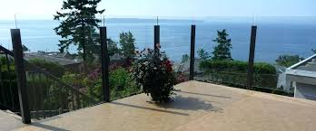 maintenance free aluminum railings fence systems glass deck railing canada