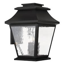 livex lighting hathaway 4 light black outdoor wall mount lantern