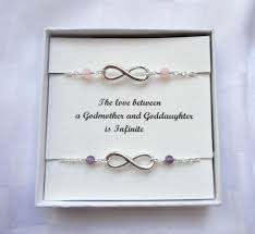 Goddaughter Quotes Interesting Godmother Goddaughter Gift Two Infinity Bracelets Silver Infinity