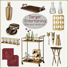 Bar Accessories And Decor Tracy's Notebook Of Style Target Entertaining Chic Bar Cart And 48