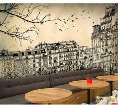 Europe Architecture Sketch City Landscape Building Wallpaper Mural