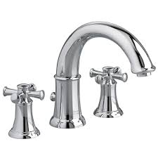 american standard portsmouth 1 5 gpm deck mount bathtub faucet with lever handles